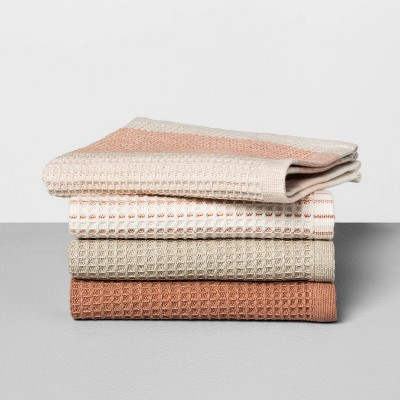 4pc Dishcloth Set Taupe & Copper - Hearth & Hand™ with Magnolia