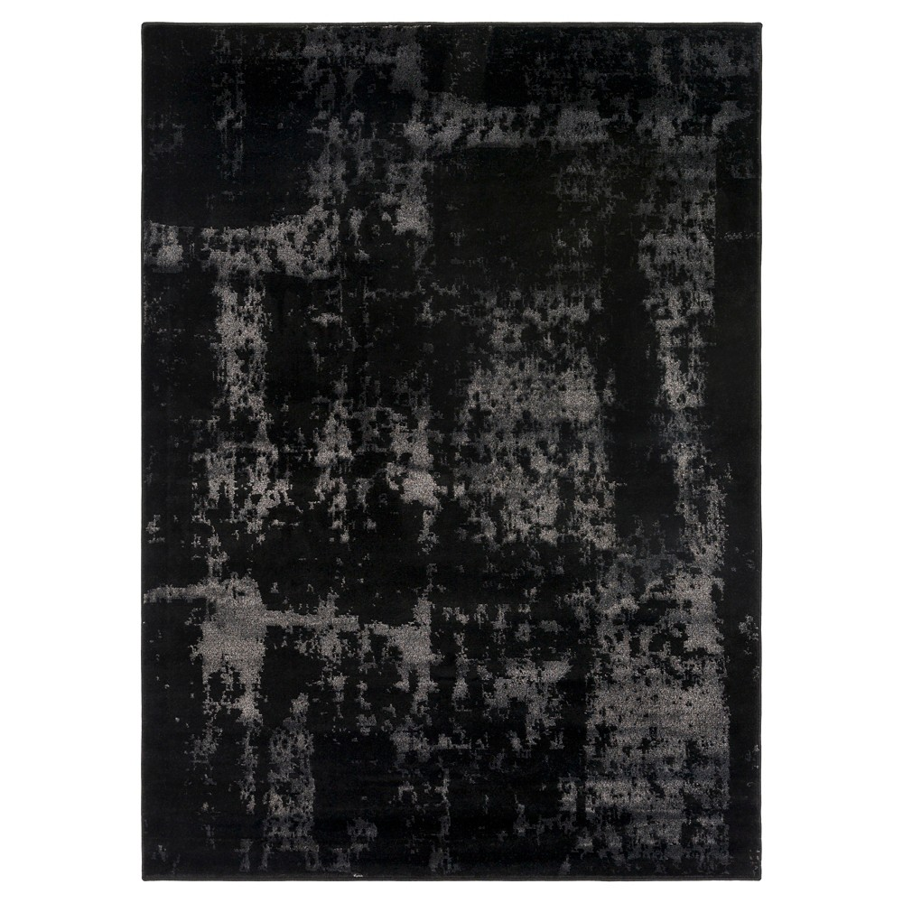 Black Abstract Tufted Area Rug - (8'X11') - Surya