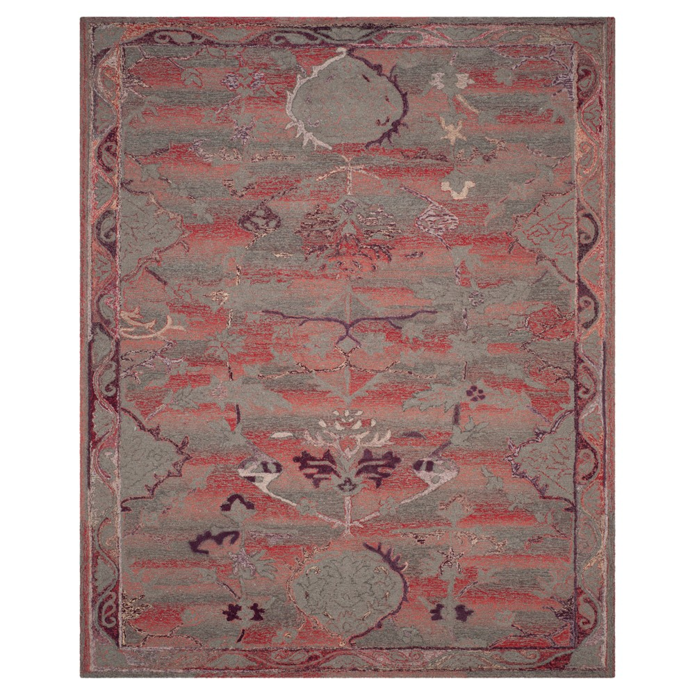Red Solid Tufted Area Rug - (8'X10') - Safavieh