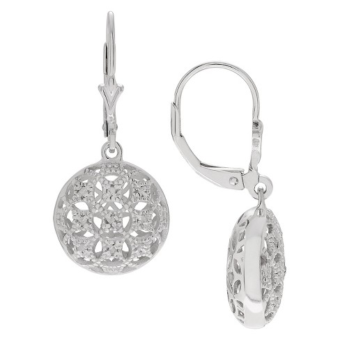 1/5 CT. T.W. Round-cut Diamond Pave Set Dangle Earrings in Sterling Silver (JK-I2) - Silver - image 1 of 2