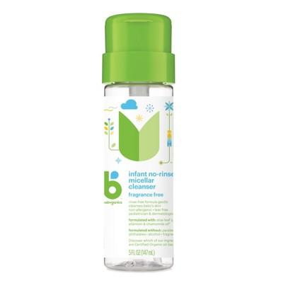 Babyganics Infant No-Rinse Micellar Cleanser Fragrance Free - 5oz