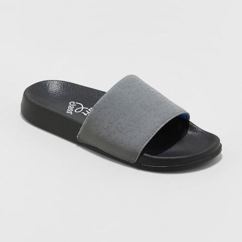 Boys' Strap Slide Sandals - art class™ Gray - image 1 of 3