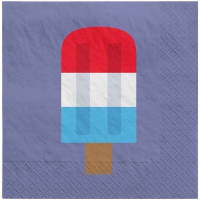 30ct Lunch Napkin Popsicle Navy - Sun Squad™