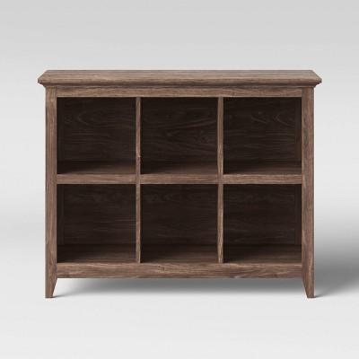 37.2  Carson 6 Bin Organizer Bookcase Walnut Brown - Threshold™