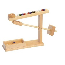Remley Kids Wooden Marble Machine with Marbles, Maple