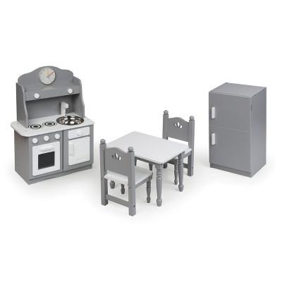 """Kitchen Furniture Set for 18"""" Dolls - Gray/White"""