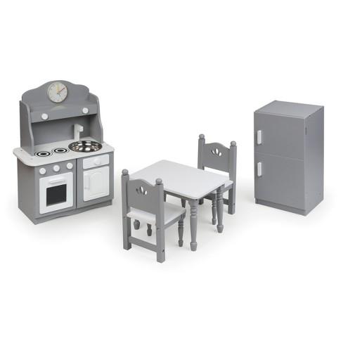 "Kitchen Furniture Set for 18"" Dolls - Gray/White - image 1 of 4"