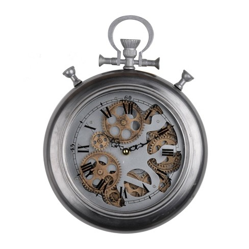Small Hereford Pocketed Wall Clock Silver - A&B Home - image 1 of 1