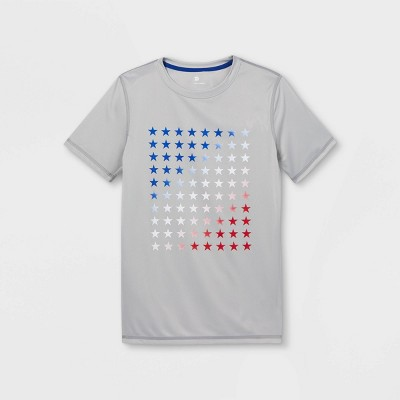 Boys' Short Sleeve Star Graphic T-Shirt - All in Motion™ Silver