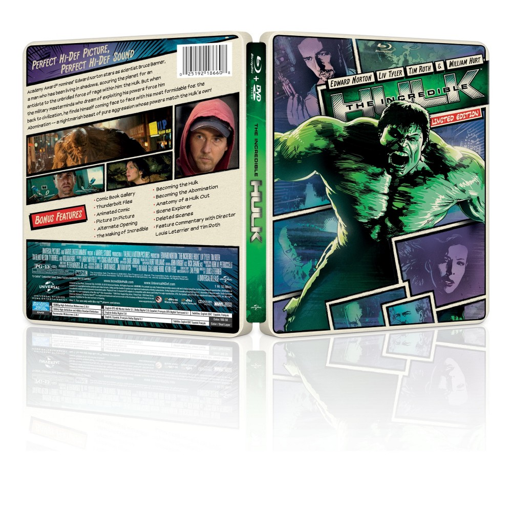 The Incredible Hulk (2 Discs) (Includes Digital Copy) (UltraViolet) (Blu-ray/Dvd)