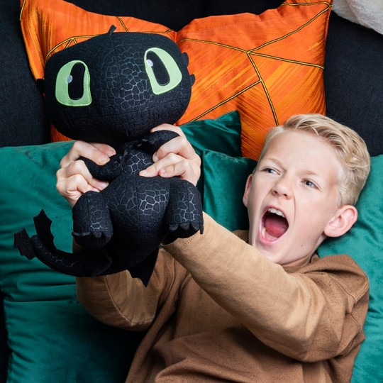 "DreamWorks Dragons, Squeeze & Growl Toothless, 10"" Plush Dragon with Sounds image number null"