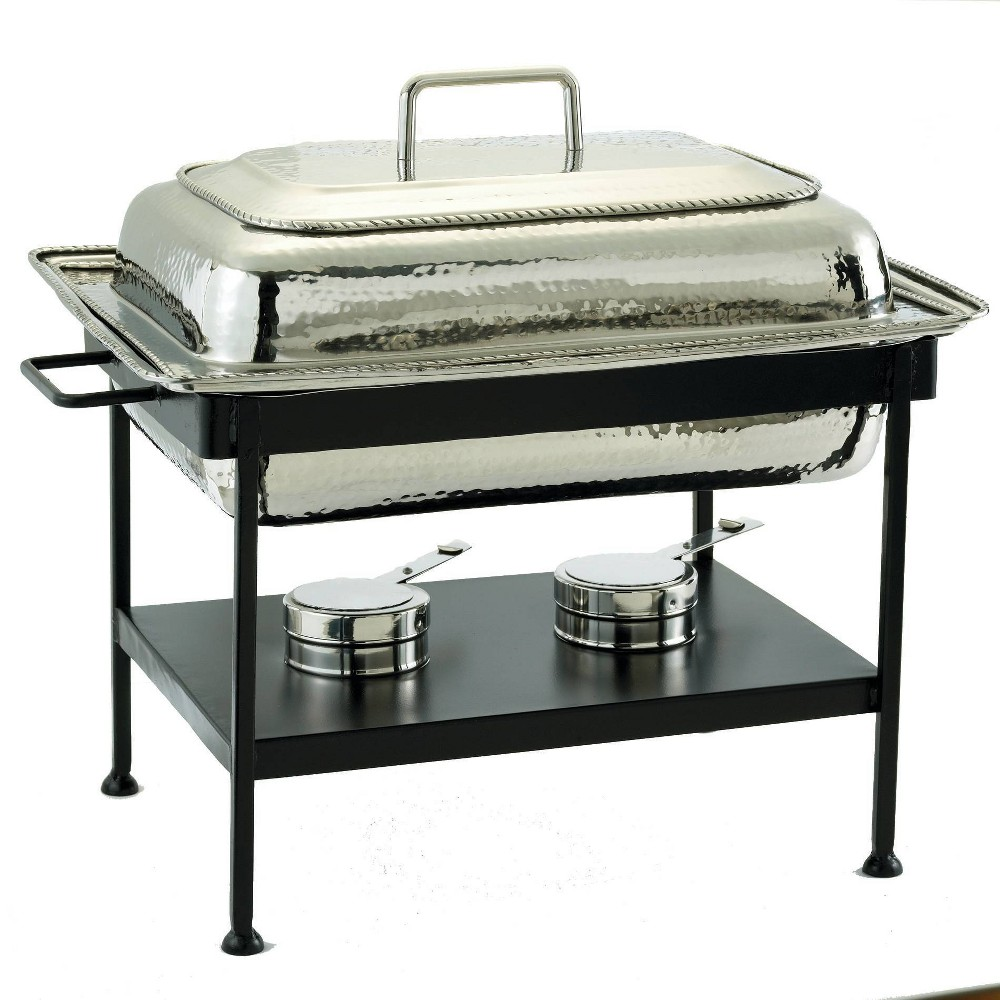 Image of Old Dutch 8qt Stainless Steel Hammered Chafing Dish