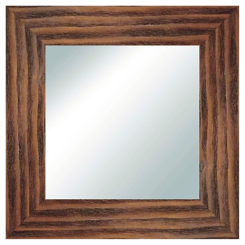 Square Reclaimed Wood Decorative Wall Mirror Natural - PTM Images - image 1 of 1