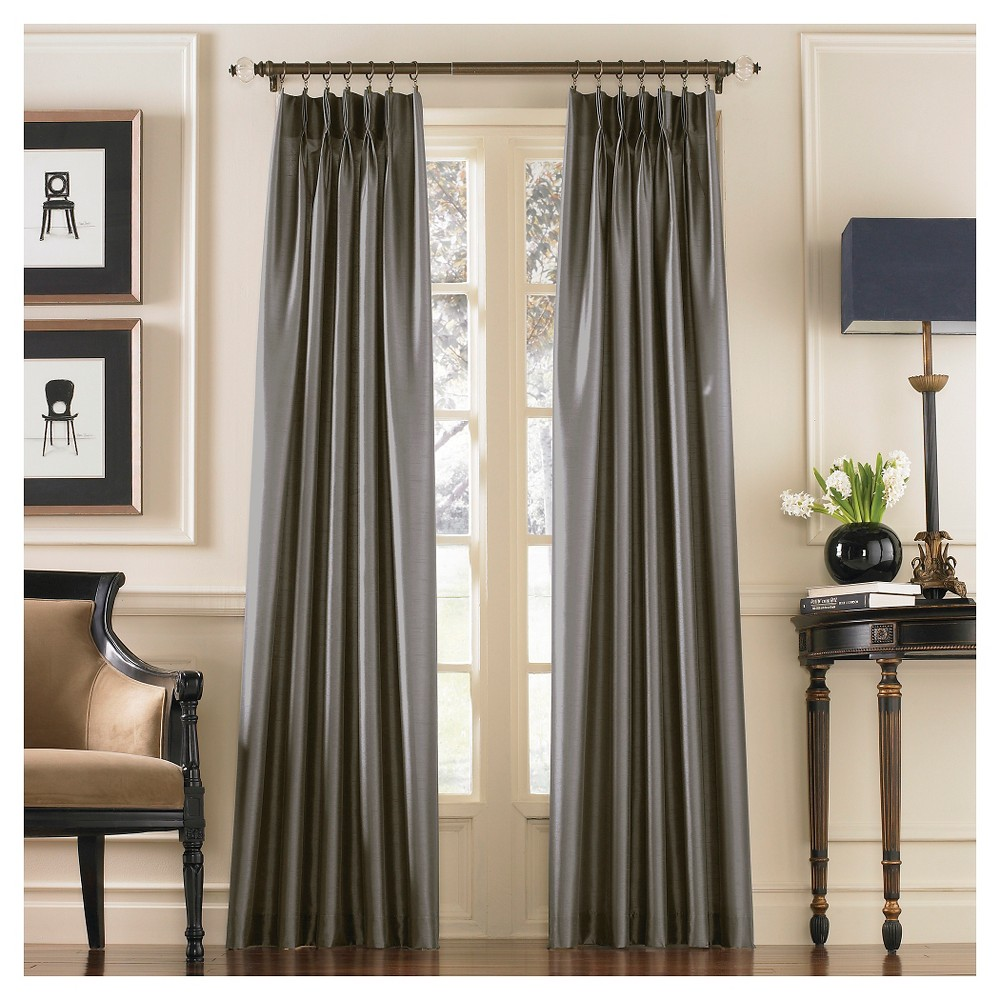 Curtainworks Marquee Lined Curtain Panel - Pewter (Silver) (144)