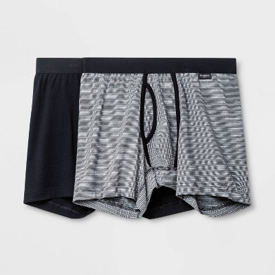 Men's Striped 2pk Boxer Briefs - Goodfellow & Co™ Black