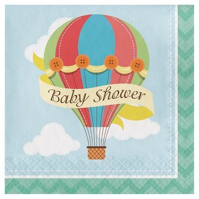 Up, Up, & Away Baby Shower Napkins, 16 pk