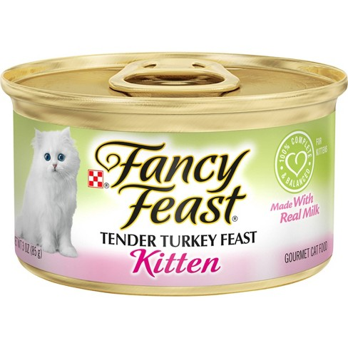 Purina Fancy Feast Classic Pat Gourmet Wet Cat Food Tender Turkey Feast Kitten - 3oz - image 1 of 4