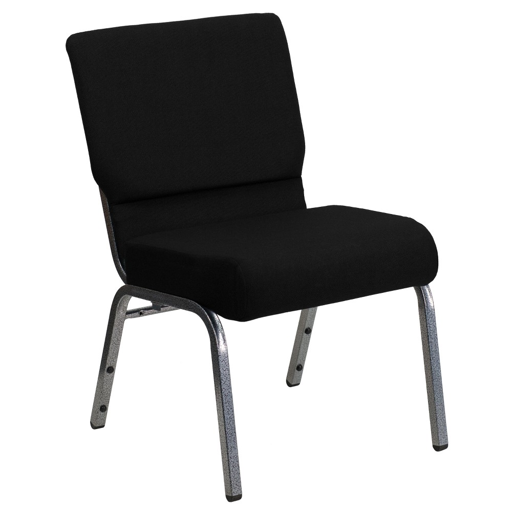 Riverstone Furniture Collection Fabric Church Chair Black