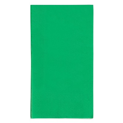 Blue Panda 120-Pack Green Disposable Paper Napkin Party Supplies, 7.5 x 4.25 In