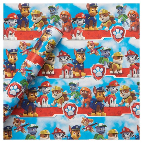 Paw Patrol Gift Wrap Birthday Target