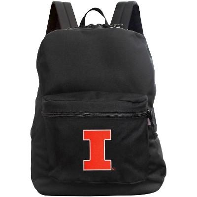 NCAA Illinois Fighting Illini Black Premium Backpack