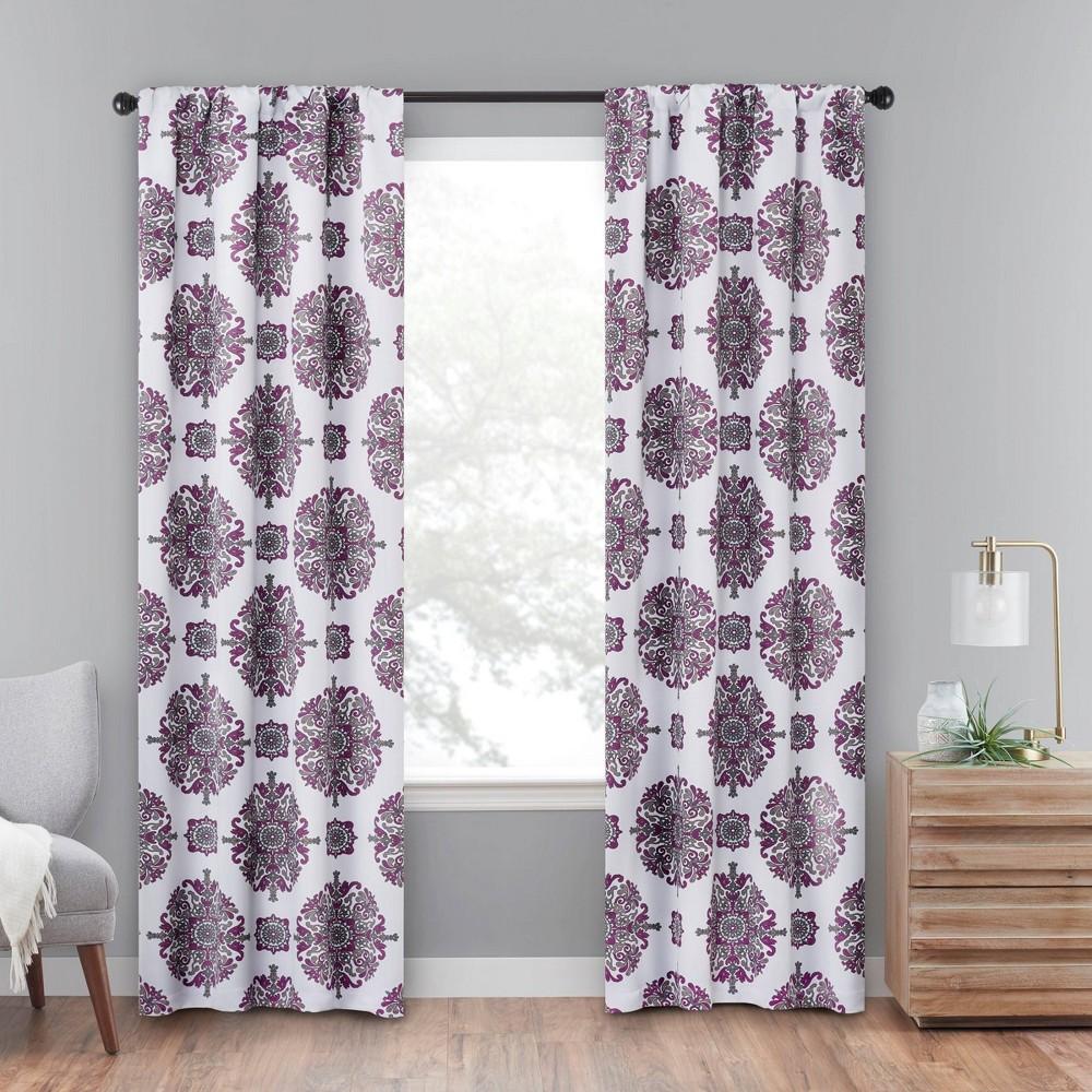84 34 X37 34 Olivia Rod Pocket Blackout Curtain Panels Purple Eclipse