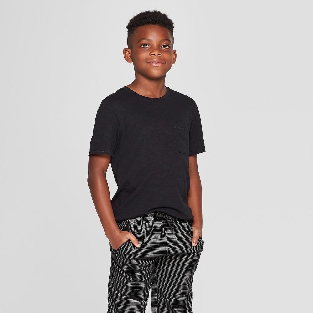 Boys' Short Sleeve Dual Hem Tall T-Shirt - art class Black XS