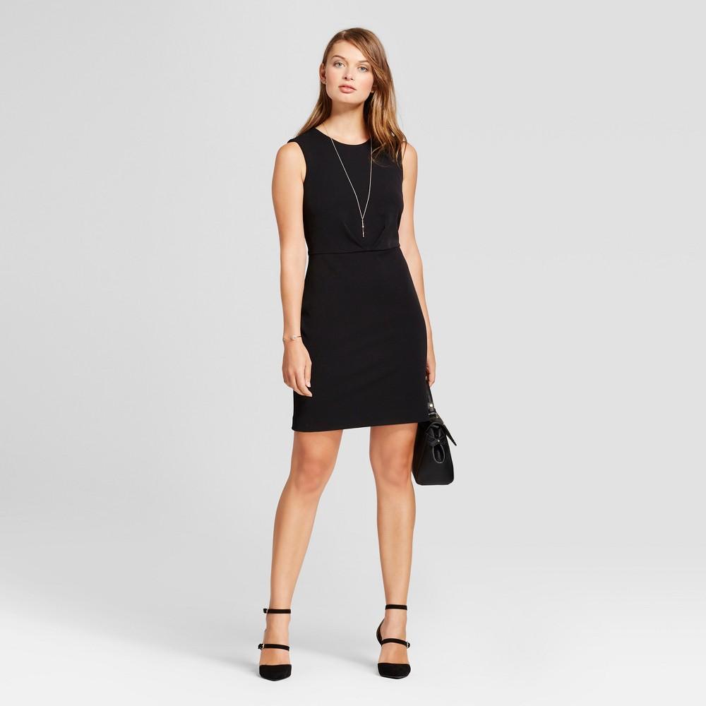 Women's Bi-Stretch Twill Dress - A New Day Black 4