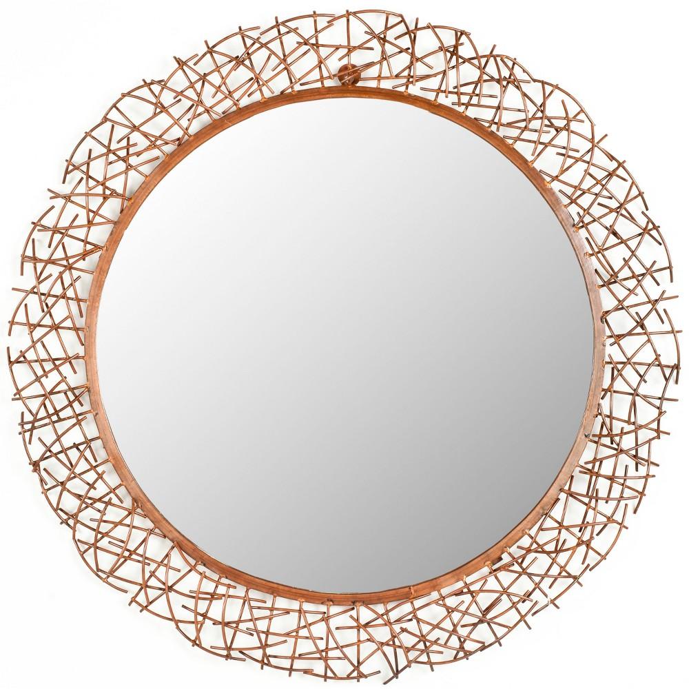 Round Twig Decorative Wall Mirror Gold - Safavieh