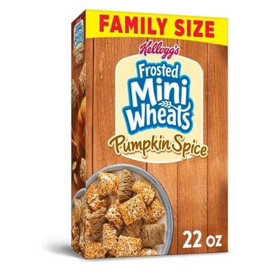 Frosted Mini Wheats Pumpkin Spice Family Size Breakfast Cereal - 22oz - Kellogg's