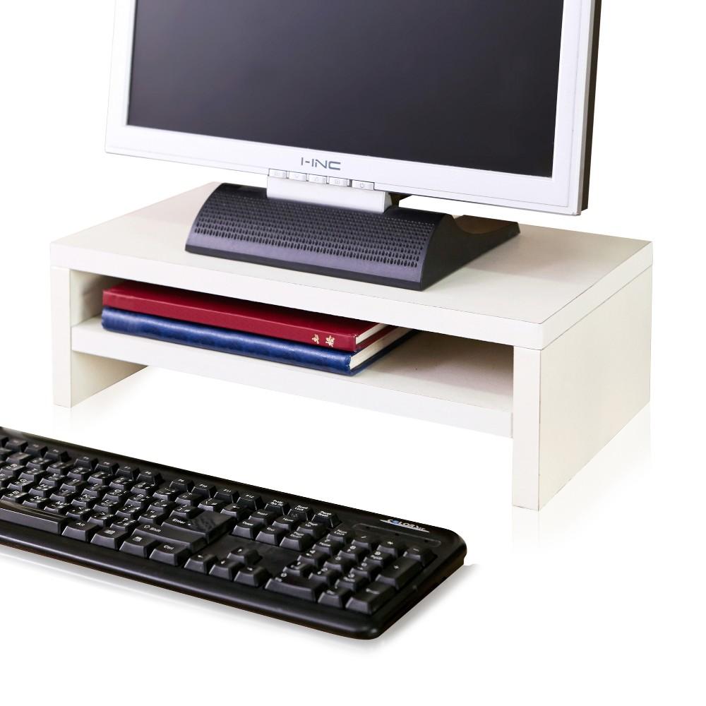 Image of Eco Friendly 2-Shelf Monitor Stand Riser White - Way Basics