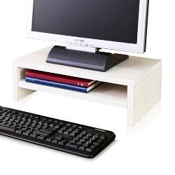 Eco Friendly 2-Shelf Monitor Stand Riser White - Way Basics