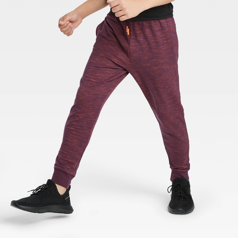 Boys' French Terry Jogger Pants - All in Motion Purple Heather XXL, Purple Grey was $20.0 now $10.0 (50.0% off)