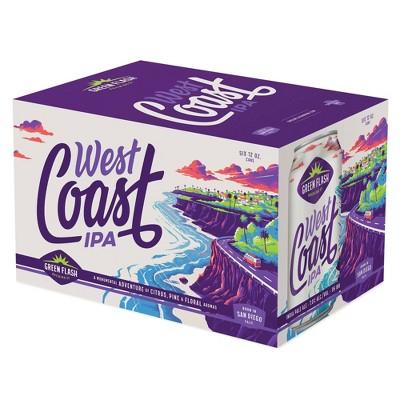 Green Flash West Coast IPA Beer - 6pk/12 fl oz Cans