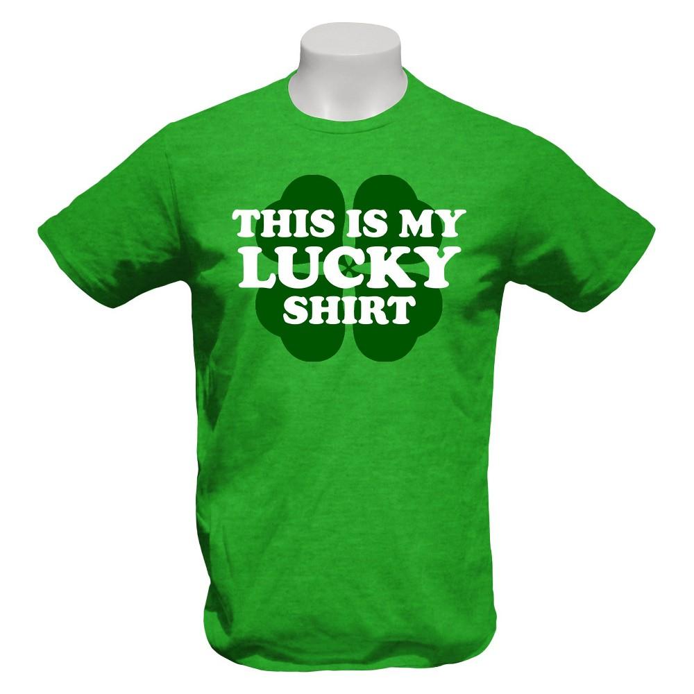 Men's This is My Lucky Shirt T-Shirt Green Heather Xxl
