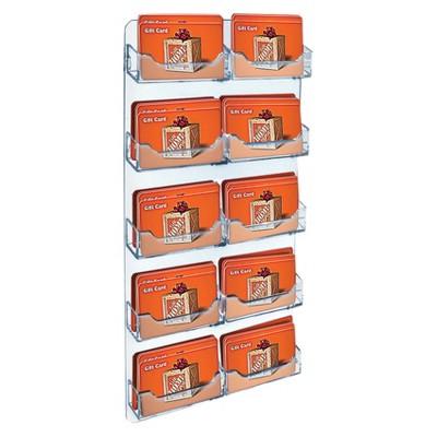 Azar Ten-Pocket Wall Mount Business/Gift Card Holder 2ct