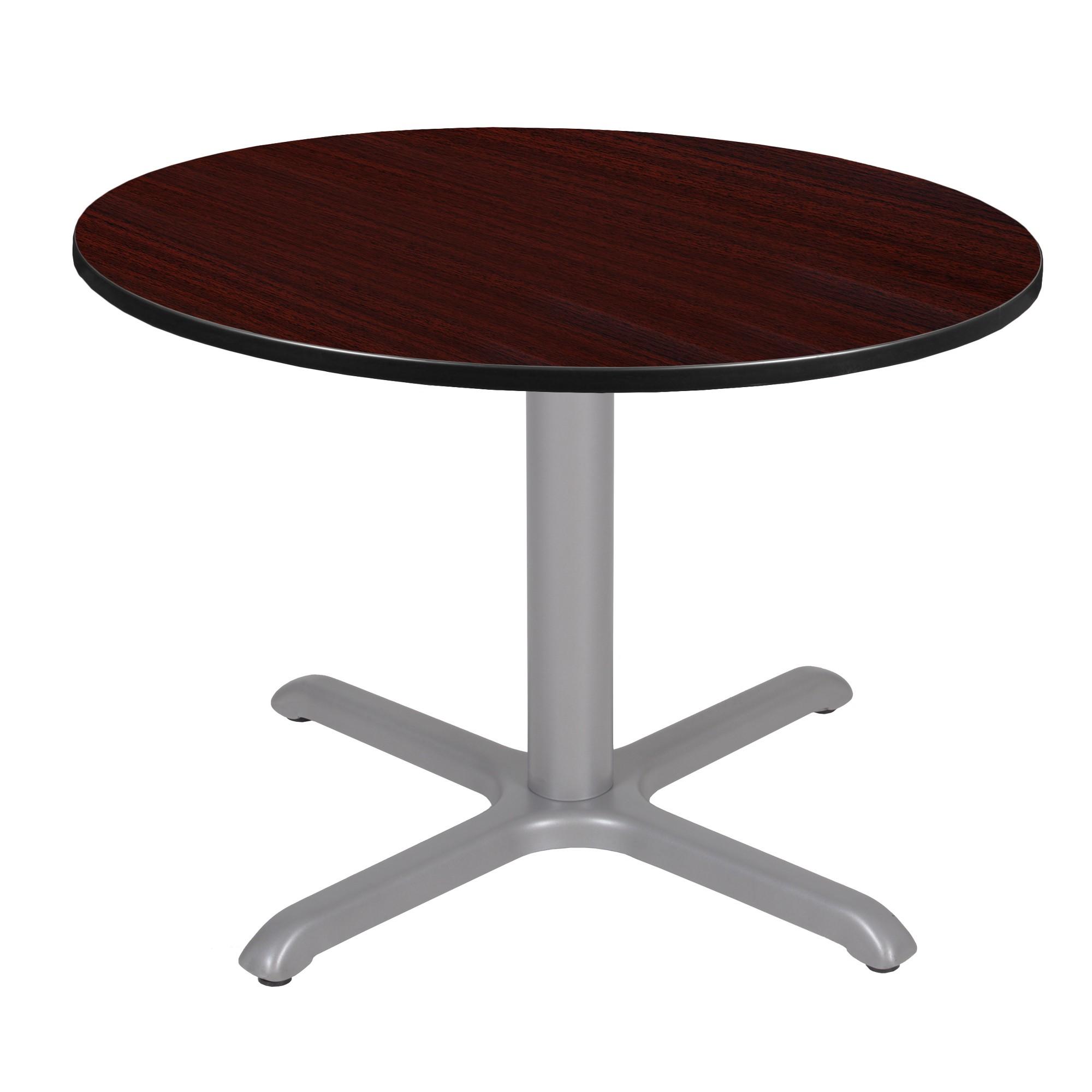 48 Via Round X - Base Table Mahogany/Gray (Brown/Gray) - Regency