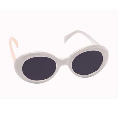 Forum Novelties Tinted White Mod Glasses