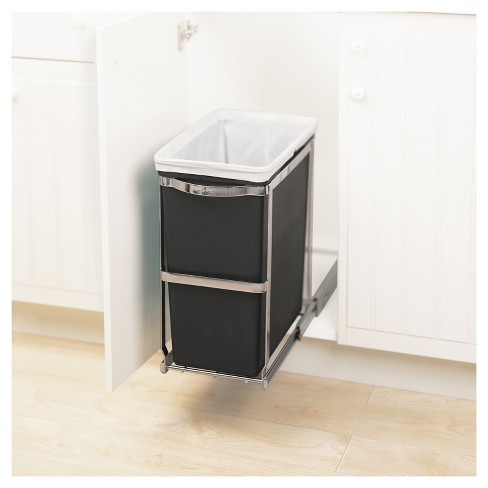Simplehuman 30 Liter Pull Out Trash Can Heavy Duty Steel Frame All