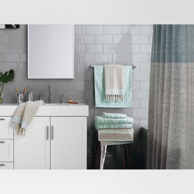 Ikat Hand Towels Gray/Green   Threshold™