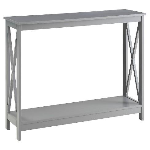 Oxford Console Table Gray Medium Convenience Concepts