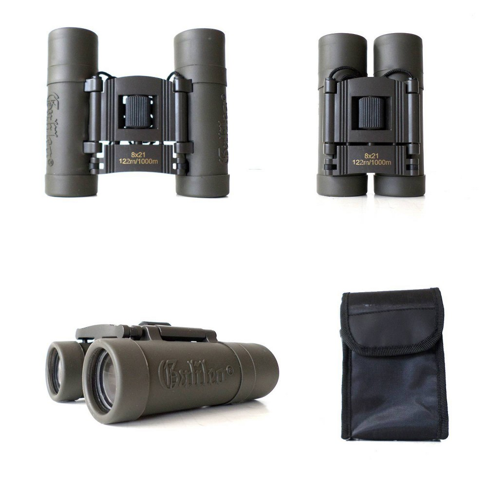 Image of Galileo 8x21mm Compact Roof Prism Binoculars - Gray