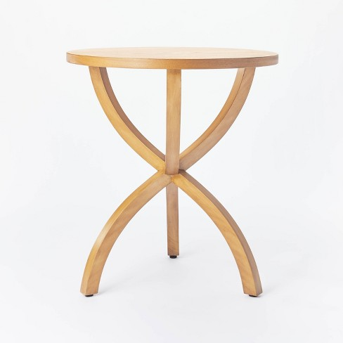 Mesa Verde Wood Curved Leg Accent Table - Threshold™ designed with Studio McGee - image 1 of 4