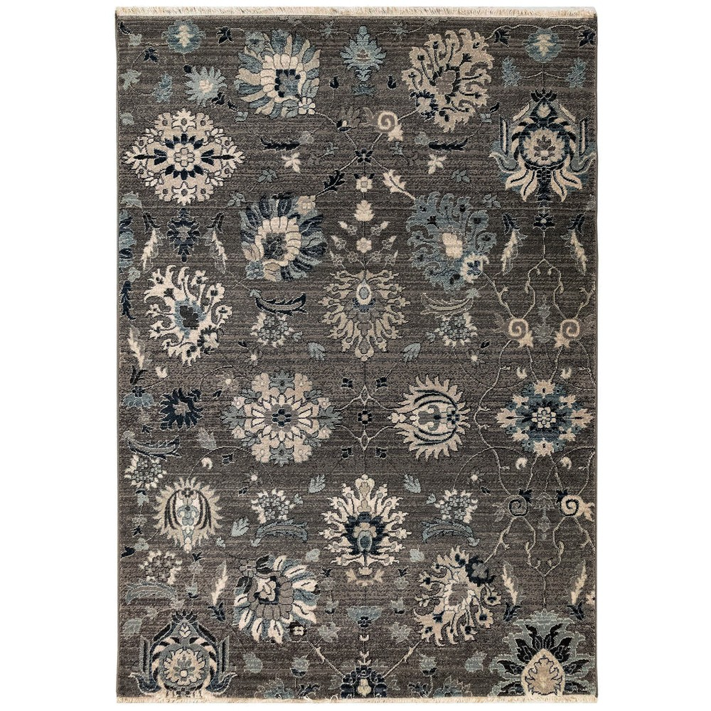 7'10X10' Floral Woven Area Rug Gray - Liora Manne