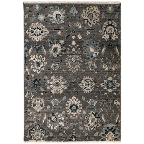 3'X5' Floral Woven Accent Rug Gray - Liora Manne - image 1 of 6
