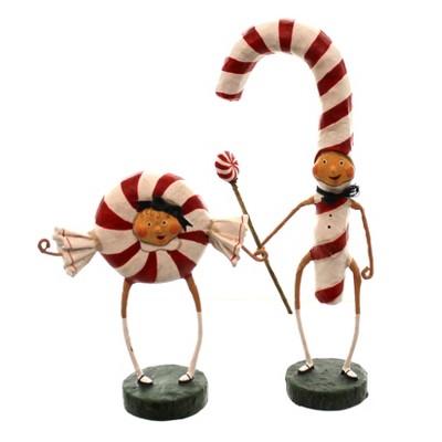 "Lori Mitchell 8.5"" Patsy & Peppie Mint Peppermint Candy Christmas  -  Decorative Figurines"