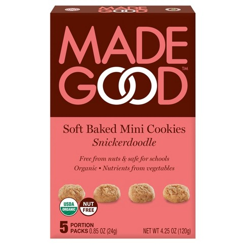MadeGood Organic Gluten Free Snickerdoodle Soft Baked Cookies  - 4.25oz - image 1 of 4