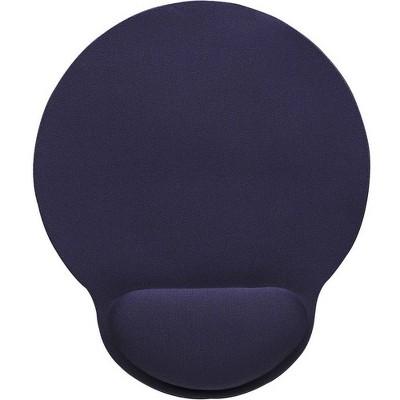 Manhattan Wrist-Rest Gel Mouse Pad, Blue - Gel material promotes proper hand and wrist position