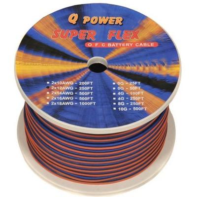 QPower 12G250 12-Gauge Ga 250' Spool High Performance Car/Home Speaker Wire