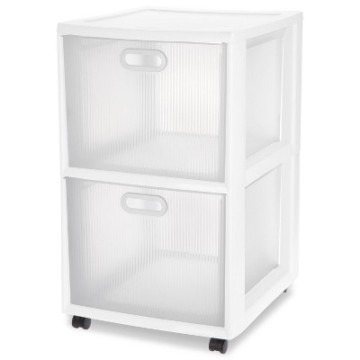 Sterilite Ultra 2-Drawer Storage Cart White